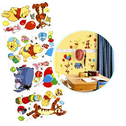 Stickers muraux repositionnables winnie l 39 ourson - Stickers muraux repositionnables ...