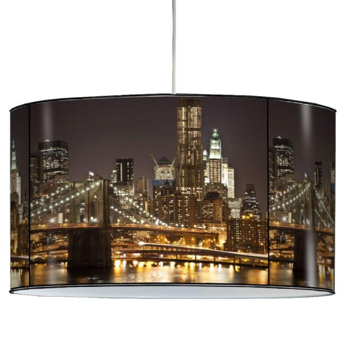 lustre pvc new york la nuit. Black Bedroom Furniture Sets. Home Design Ideas