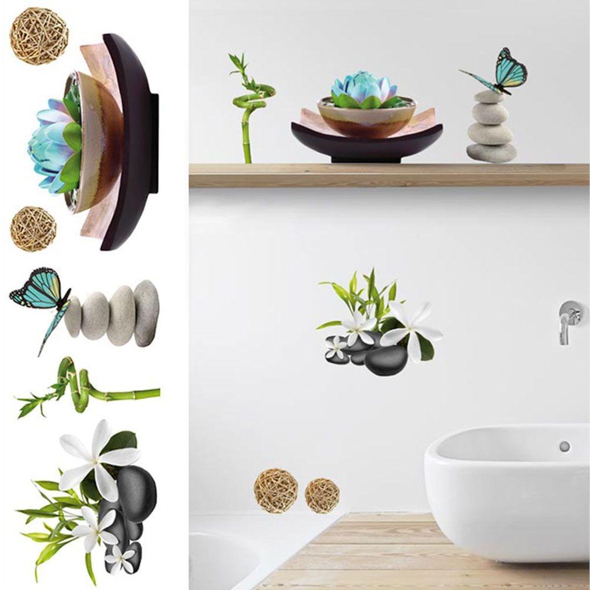 stickers muraux zen spa. Black Bedroom Furniture Sets. Home Design Ideas