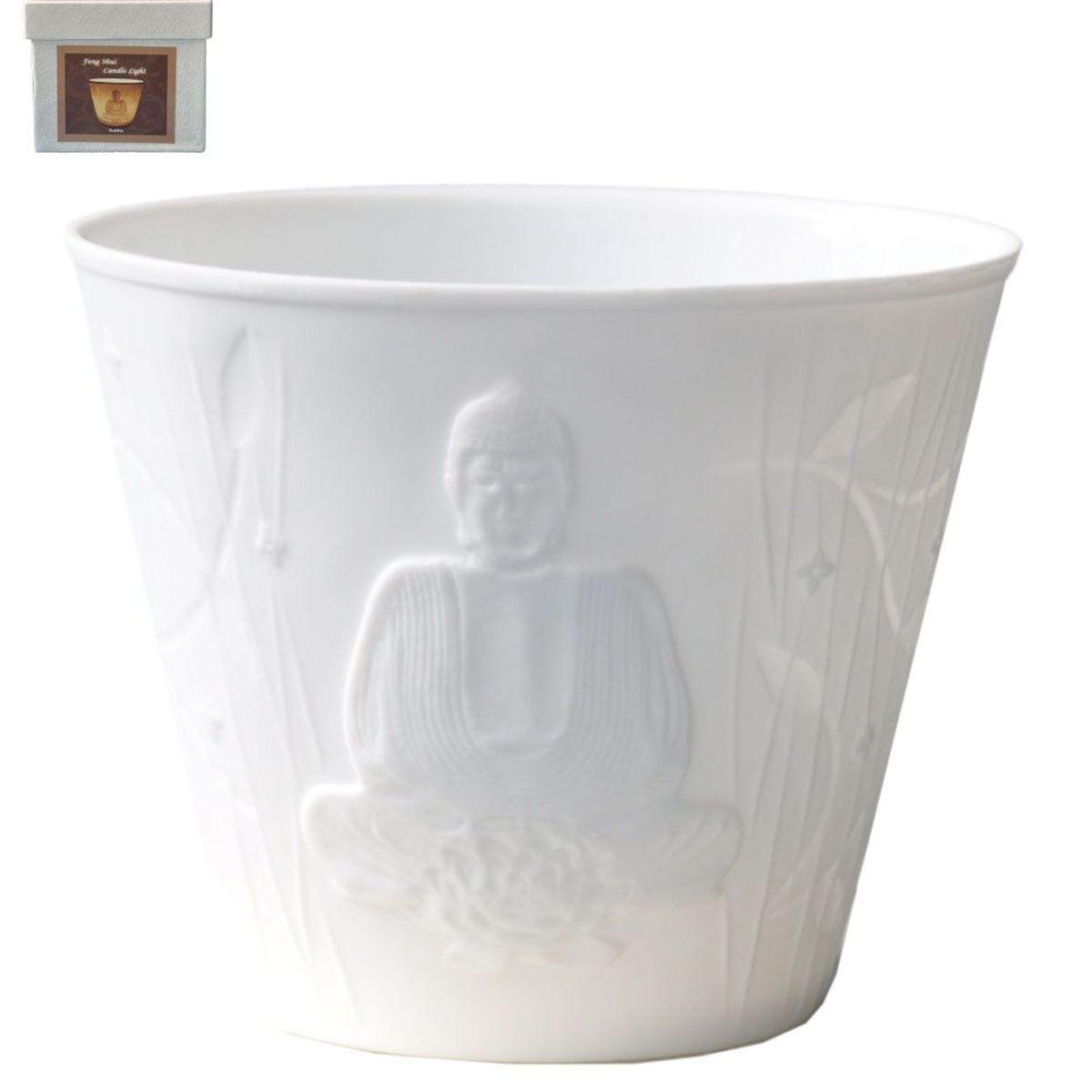 tasse porte bougie en porcelaine bouddha. Black Bedroom Furniture Sets. Home Design Ideas