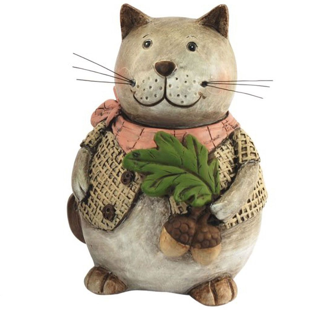 Statuette de d coration en r sine chat gourmand - Resine de decoration ...