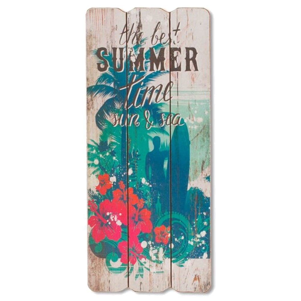 D coration murale en bois suspendre summer for Decoration a suspendre