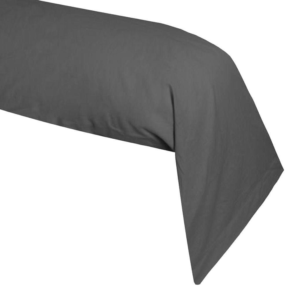 une taie de traversin grise. Black Bedroom Furniture Sets. Home Design Ideas