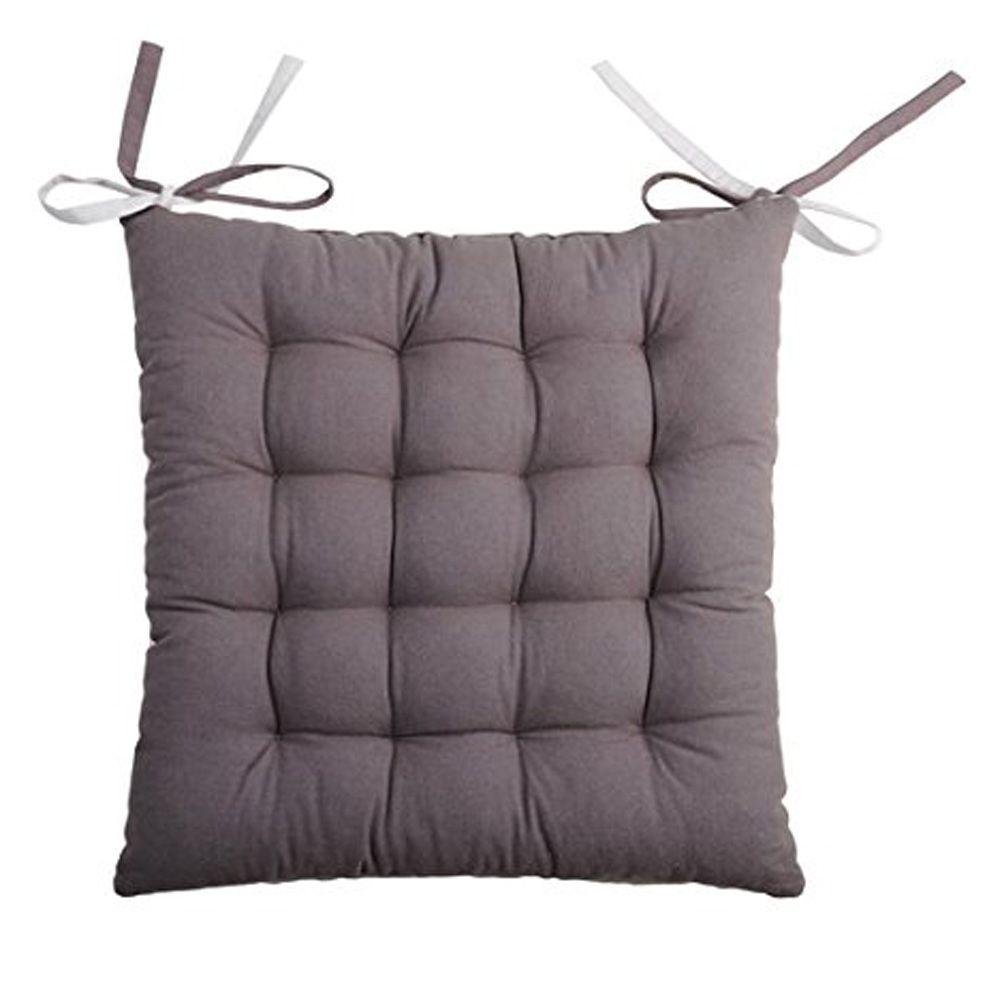 coussin de chaise 2 faces gris et perle 40 cm. Black Bedroom Furniture Sets. Home Design Ideas