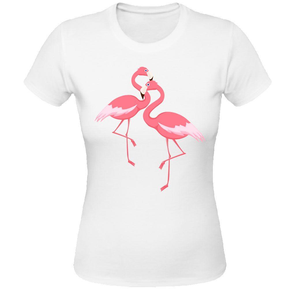 tee shirt blanc femme flamant rose. Black Bedroom Furniture Sets. Home Design Ideas