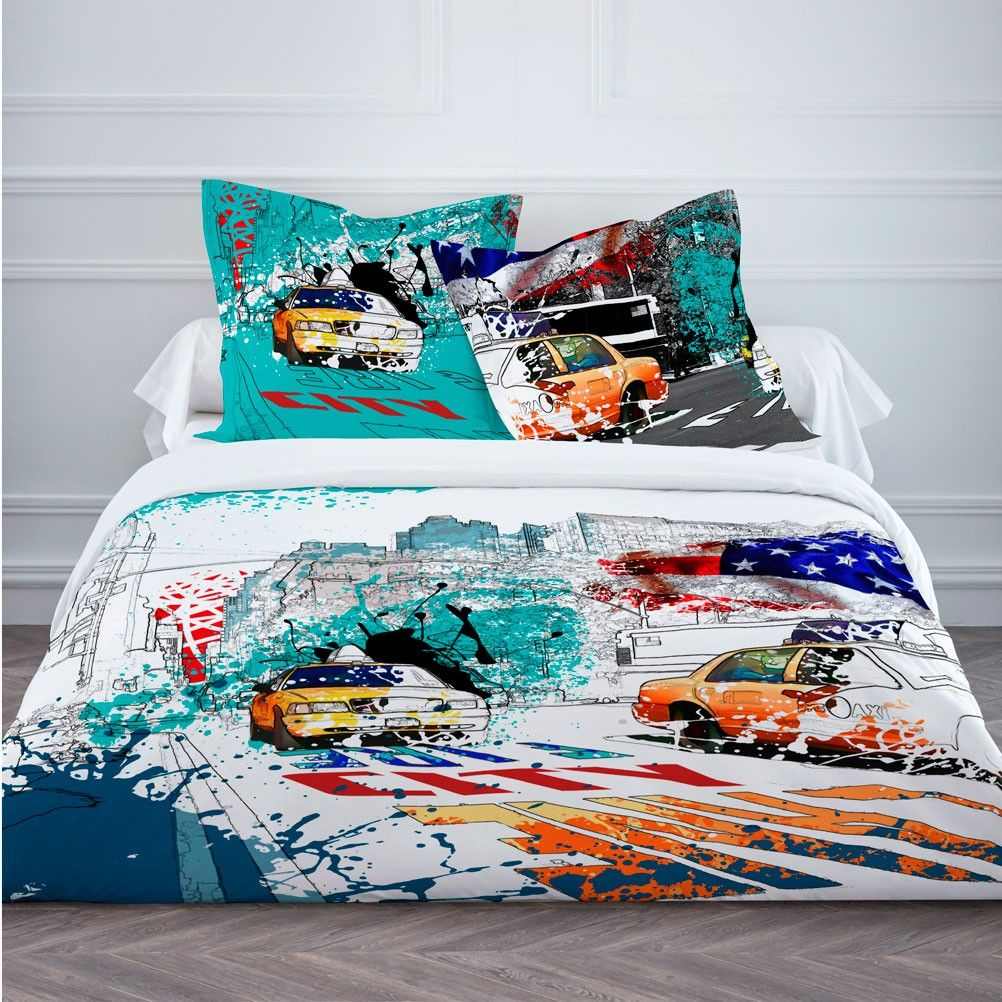 parure de lit usa 220 cm. Black Bedroom Furniture Sets. Home Design Ideas