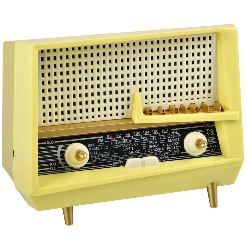 poste de radio r tro miniature. Black Bedroom Furniture Sets. Home Design Ideas