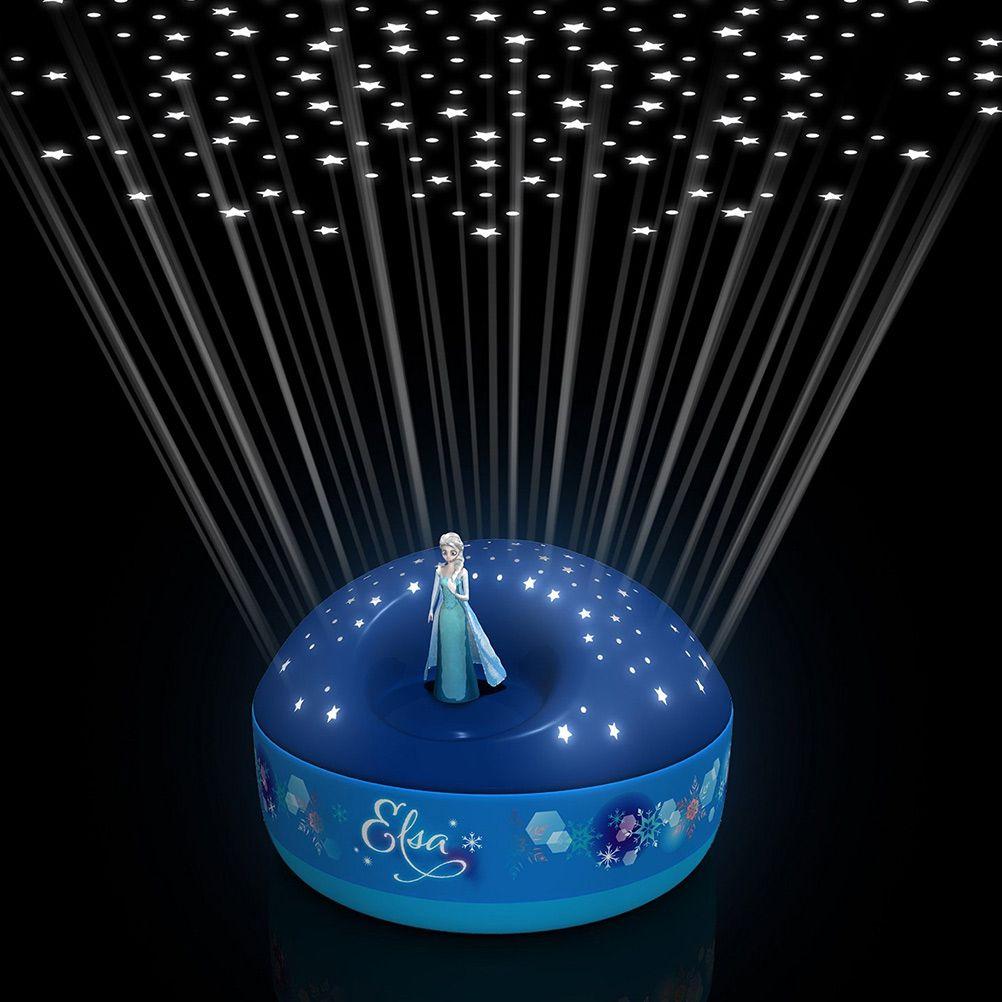 Veilleuse projecteur d 39 etoiles musical frozen - Veilleuse projecteur etoile ...