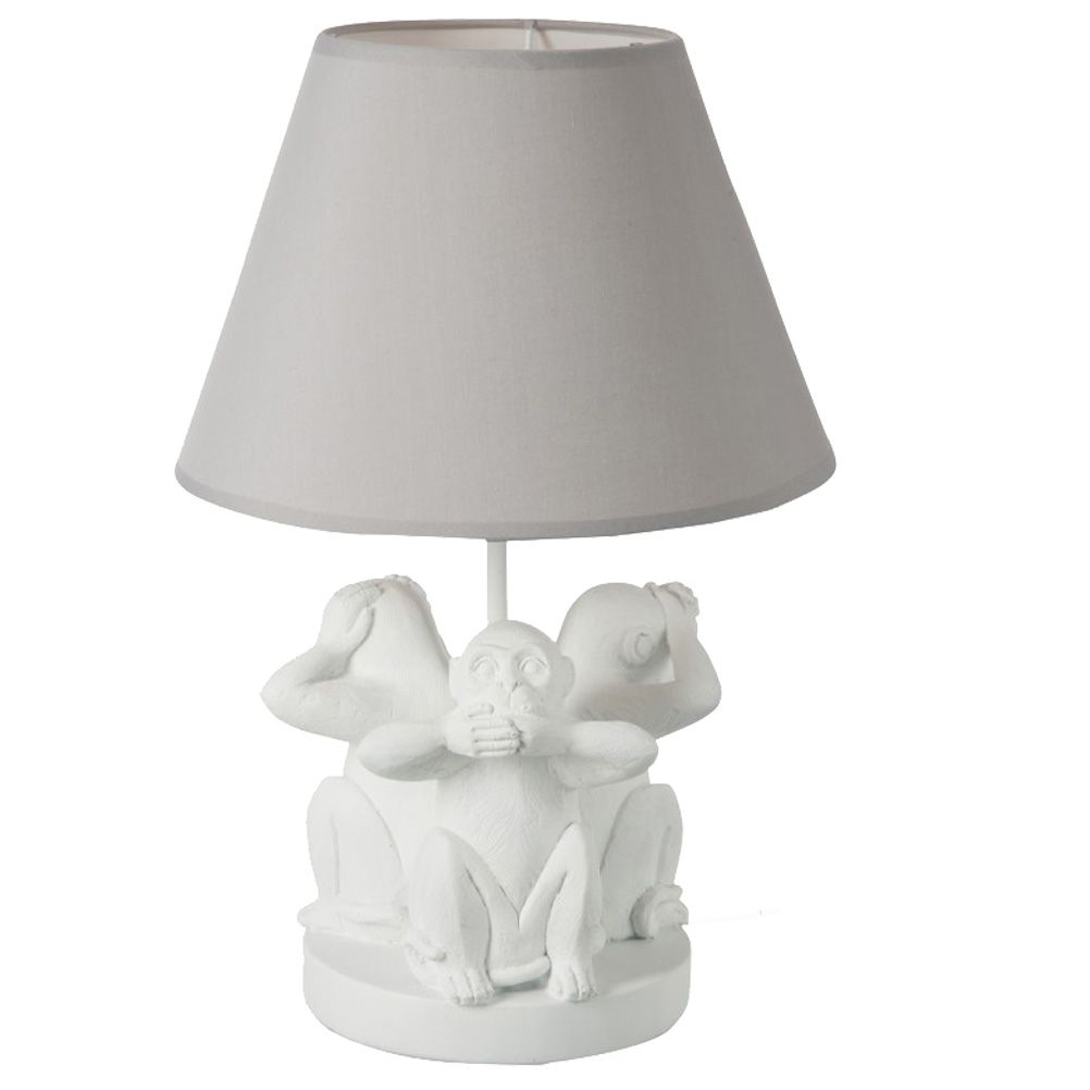 lampe d 39 ambiance trio de singes. Black Bedroom Furniture Sets. Home Design Ideas