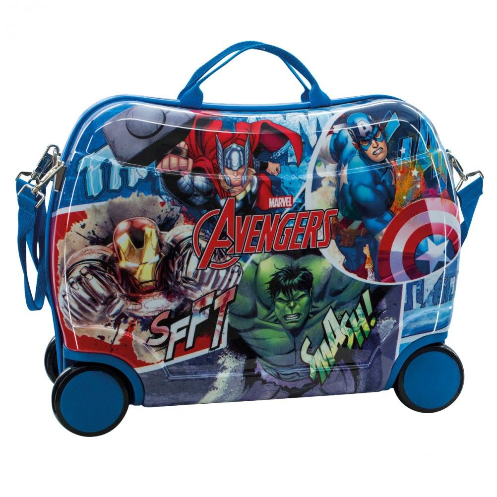 petite valise roulettes avengers bleue. Black Bedroom Furniture Sets. Home Design Ideas