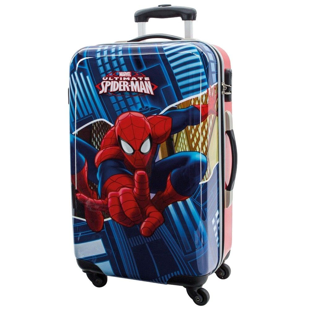 grande valise coque rigide spiderman. Black Bedroom Furniture Sets. Home Design Ideas