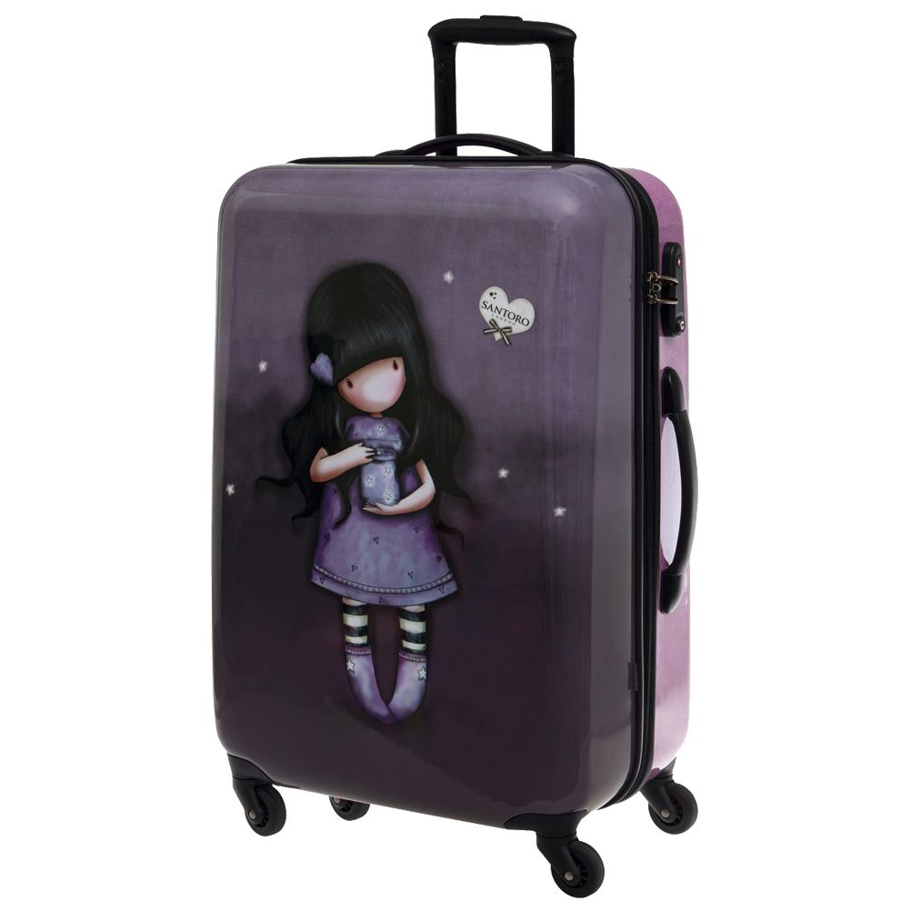 valise coque rigide gorjuss santoro violette. Black Bedroom Furniture Sets. Home Design Ideas