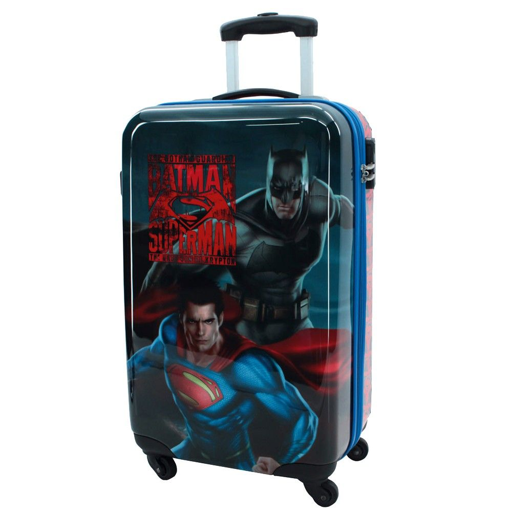 petite valise coque rigide batman superman. Black Bedroom Furniture Sets. Home Design Ideas