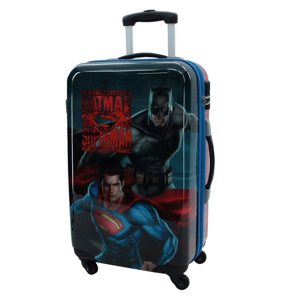 grande valise coque rigide batman superman. Black Bedroom Furniture Sets. Home Design Ideas