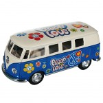Van Volkswagen à friction T1Bus 1962 1/32 Bleu