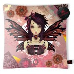 Coussin rouge gothic Lolita