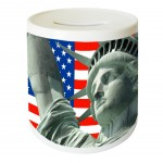 Tirelire ronde United States par Cbkreation