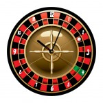 Pendule ronde Roulette Cbkreation