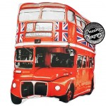 Coussin silhouette Bus UK