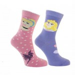 Lot de 2 paires de chaussettes Disney Princesses 19-22
