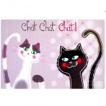 Un set de table Couple de Chats