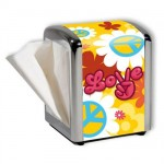 Distributeur de serviettes Peace And Love Jaune