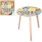 Table d'appoint Motif Carreaux Mosaïque