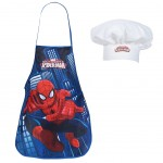 Set petit cuisinier tablier et toque Marvel Spiderman