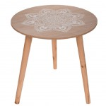 Table Mandala ronde en bois