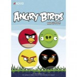 Set de 4 badges Angry Birds