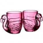 Set de 2 mini verres à shot Flamingo