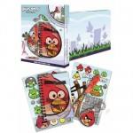 Set papeterie et stickers Angry Birds