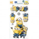 4 Stickers PVC relief les Minions