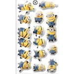 8 Stickers PVC relief les Minions