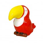 Tirelire TOUCAN Rouge 12 cm