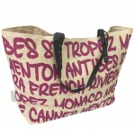 Sac Cabas Beige en paille French Riviera