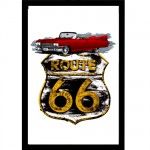Grand miroir rectangulaire Route 66
